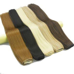 Extensions de cheveux synthétiques longues et droites