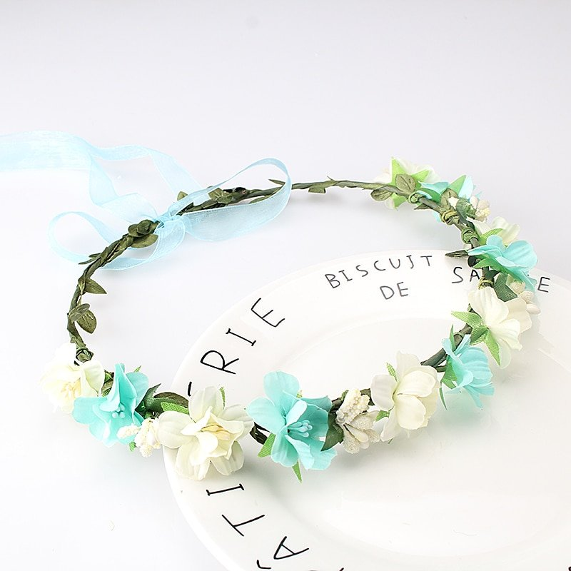 Adjustable Hair Band with Floral Details