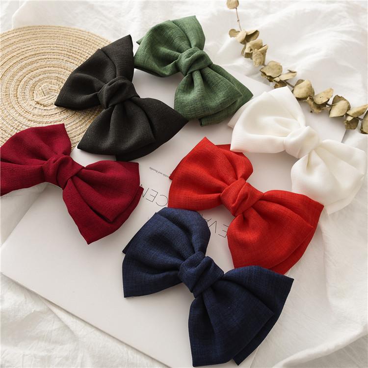 Vintage Linen Hair Bow