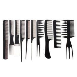 Ensemble professionnel de peignes à cheveux (10 pièces)